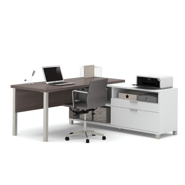 Ariana L-Shape Desk Office Suite by Mercury Row