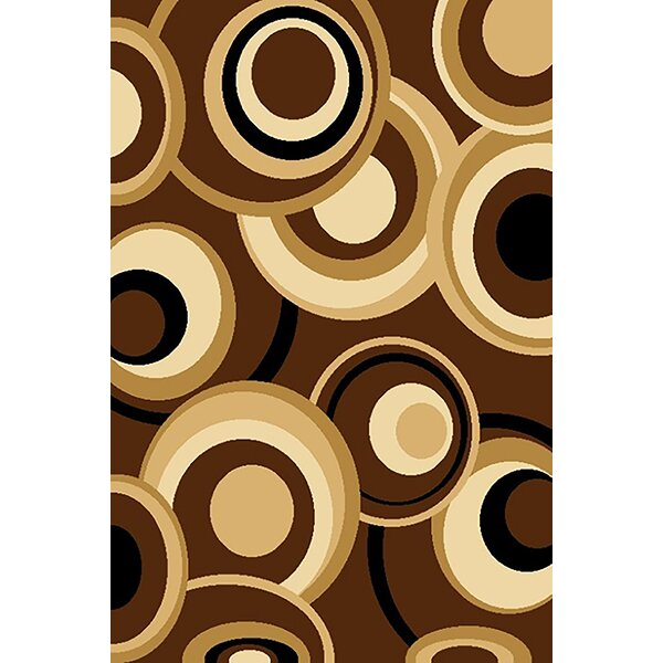 Bella Modern Contemporary Abstract Chocolate Area Rug by Planet Rugs