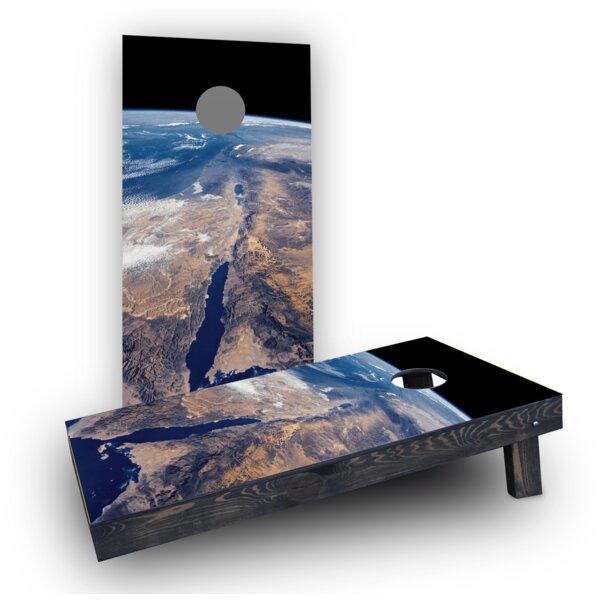 Earth from Space Cornhole Boards (Set of 2) by Custom Cornhole Boards