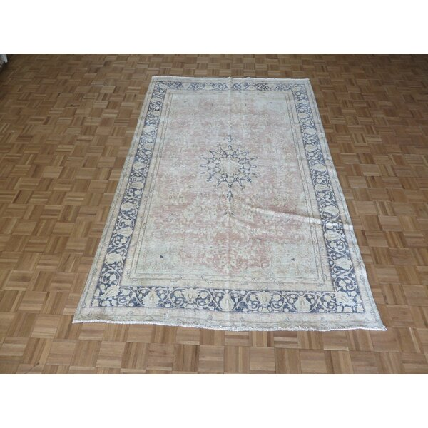 One-of-a-Kind Padillo Persian Hand-Knotted Wool Pink Area Rug by Bloomsbury Market