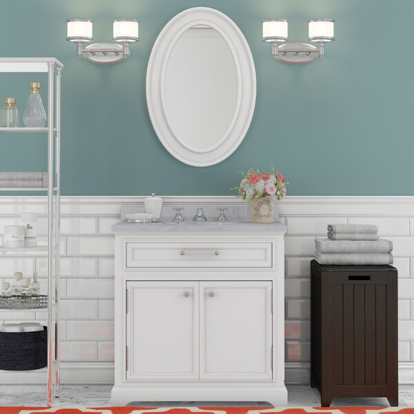 Bergin 30 Single Sink Bathroom Vanity Set with Mirror and Faucet by Three Posts