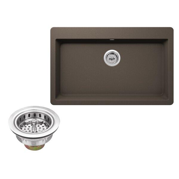 33 L x 20.86 W Quartz Single Bowl Kitchen Sink by Soleil