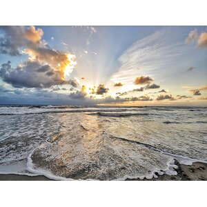 'Ocean Sunset Photography' by Brandi Fitzgerald Photographic Print on Wrapped Canvas by Buy Art For Less