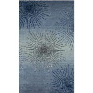 Germain Hand-Tufted Gray/Blue Area Rug