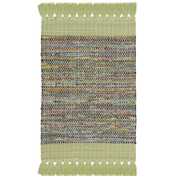 Abner Hand-Woven Green/Gray Area Rug by Harriet Bee