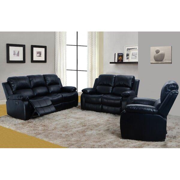 Faucher Reclining 3 Piece Living Room Set by Winston Porter Winston Porter