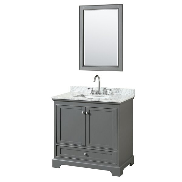 Deborah 35 Single Bathroom Vanity Set with Mirror by Wyndham Collection