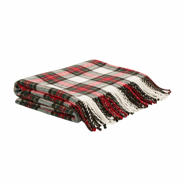 Plaid Woven Throw By Glitzhome.