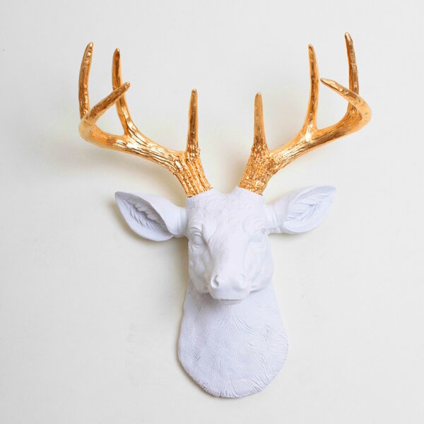 The Mini Deer Head Wall Décor by White Faux Taxidermy