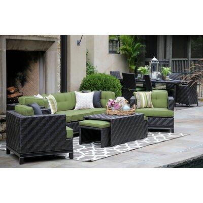 Mistana Rattan Sunbrella Sofa Seating Group Cushions Cushion Color Seating Groups