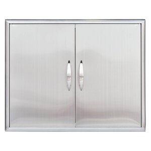 Stainless Steel Double Access Door
