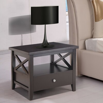 1 Drawer Nightstand Adeco Trading by Adeco Trading