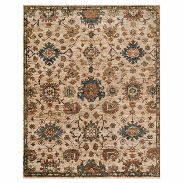 Keister Hand-Knotted Beige/Brown Area Rug by Alcott Hill