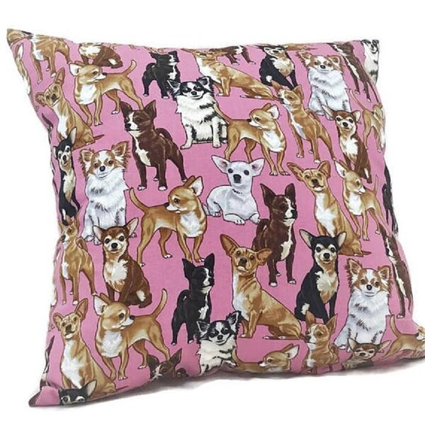 Chihuahua Throw Pillow by East Urban Home