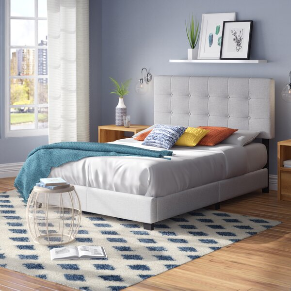 Janicki Upholstered Panel Bed by Charlton Home