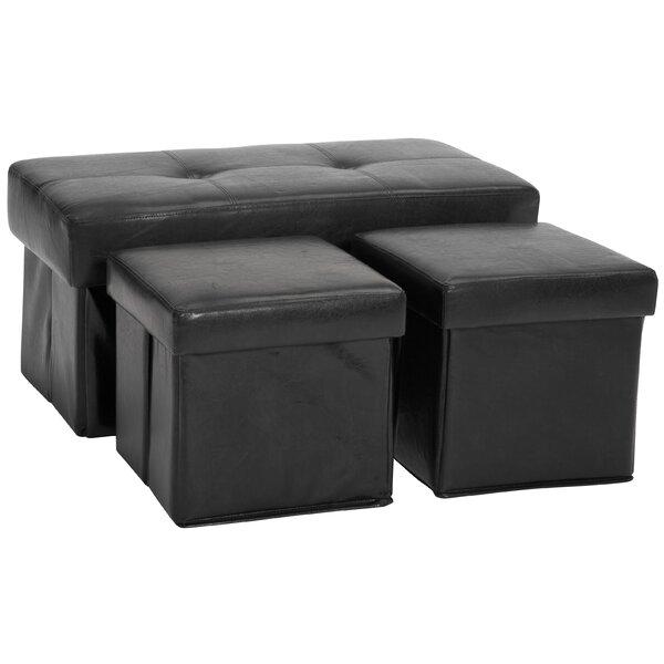 3 Piece Storage Ottoman Set by Epic Furnishings LLC