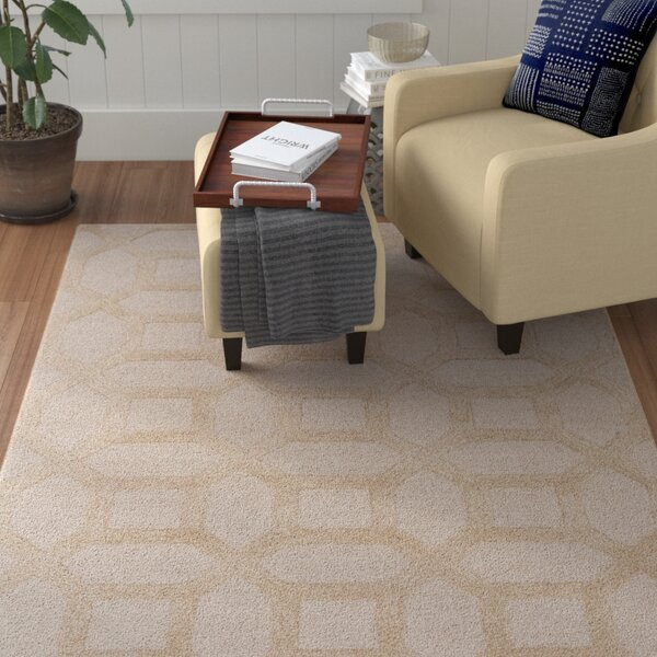 Wyble Hand-Tufted Ivory Area Rug by Winston Porter