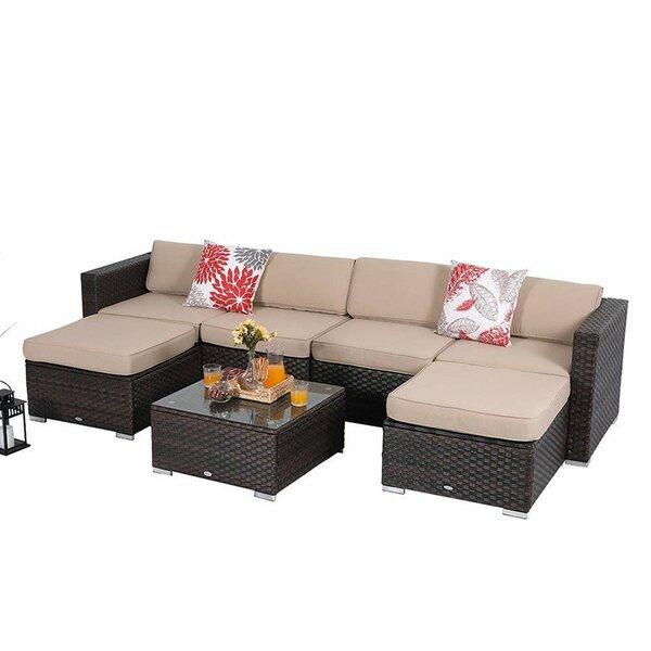 Erhard 7 Piece Rattan Sofa Set by Bay Isle Home