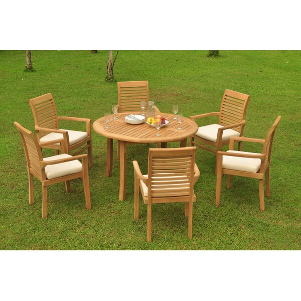Markus 7 Piece Teak Dining Set by Rosecliff Heights