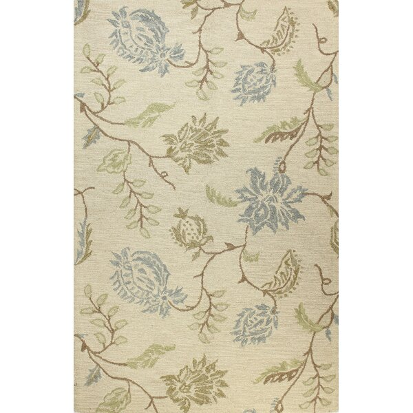 Kirkland Hand-Woven Wool Ivory Area Rug by Darby Home Co