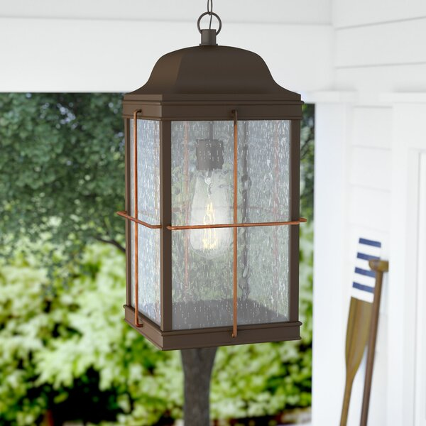 Craig 1-Light Outdoor Hanging Lantern by Beachcrest Home