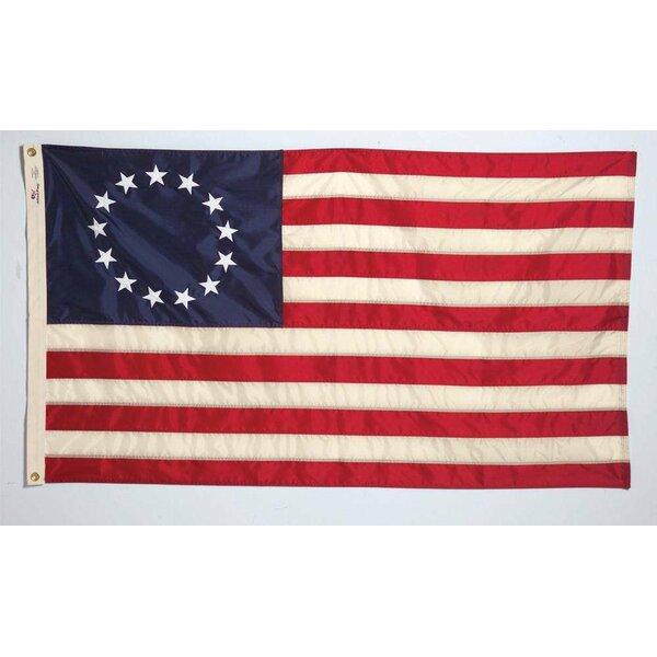 Betsy Ross Nylon 3 x 5 ft. Rectangle Flag by U.S.