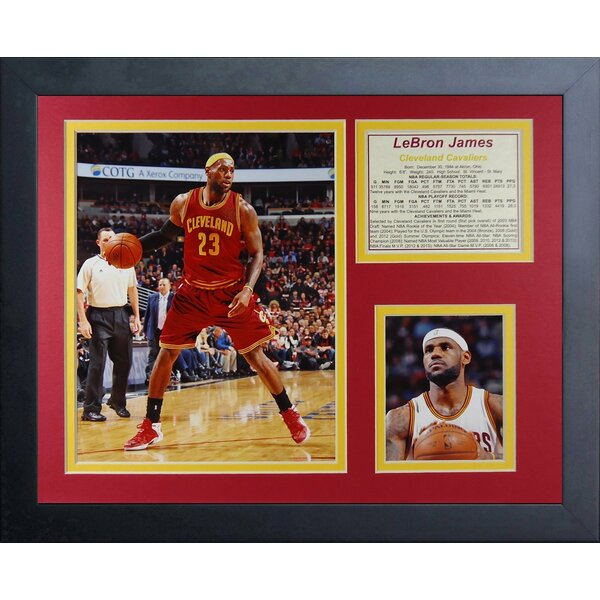 Lebron James Cleveland Cavaliers Framed Memorabilia by Legends Never Die