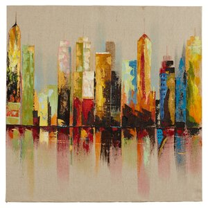 Raw City I Painting Print on Wrapped Canvas by Latitude Run