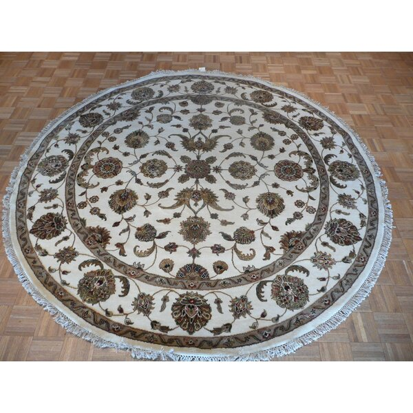 One-of-a-Kind Rhyne Hand-Knotted Wool Ivory Area Rug by Astoria Grand