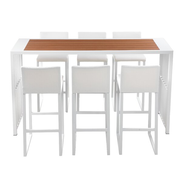 Rasberry 7 Piece Bar Height Dining Set by Orren Ellis