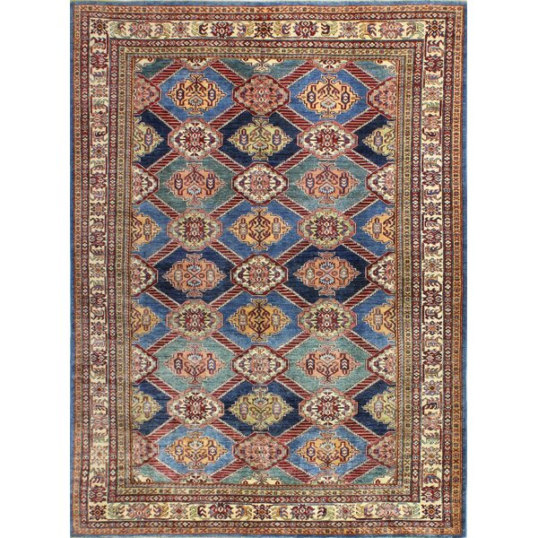 One-of-a-Kind Harrod Hand Woven Wool Brown/Blue Area Rug by Bloomsbury Market