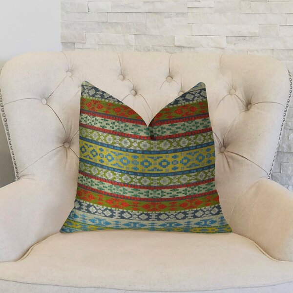 Fun Stripes Handmade Throw Pillow by Plutus Brands