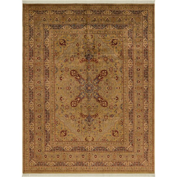 One-of-a-Kind Delron Hand-Knotted Wool Light Green Area Rug by Astoria Grand