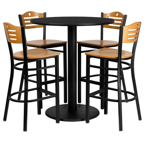 Arnab 5 Piece Pub Table Set by Red Barrel Studio