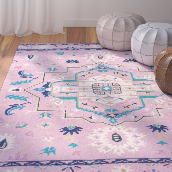 Caresse Handmade Pink Area Rug by Bungalow Rose