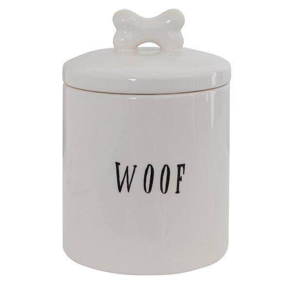Ceramic Woof Jar with Bone by Winston Porter