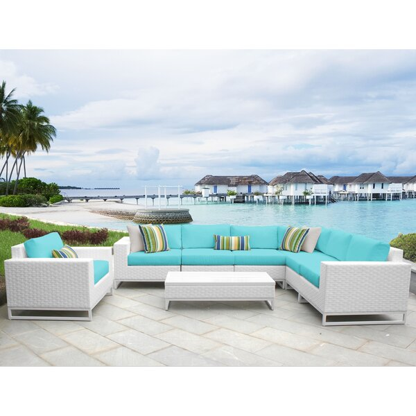 Miami 8 Piece Sectional Seating Group with Cushions by TK Classics