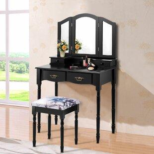 Tri Fold Dressing Table Mirror | Wayfair