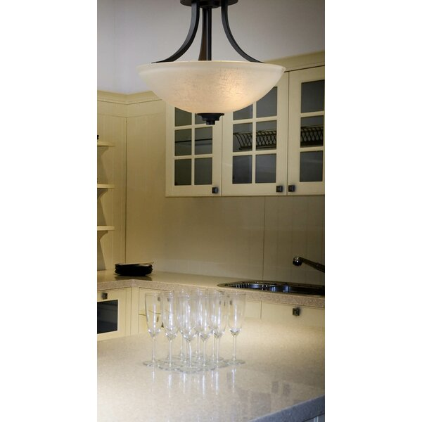 Dynasty 2-Light Semi-Flush Mount by Wildon Home ®