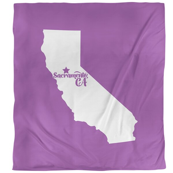 Sacramento California Duvet Cover