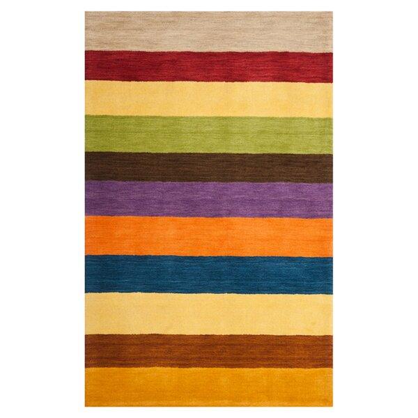 Sherri Hand Woven Wool Beige/Blue/Green Area Rug by Zipcode Design