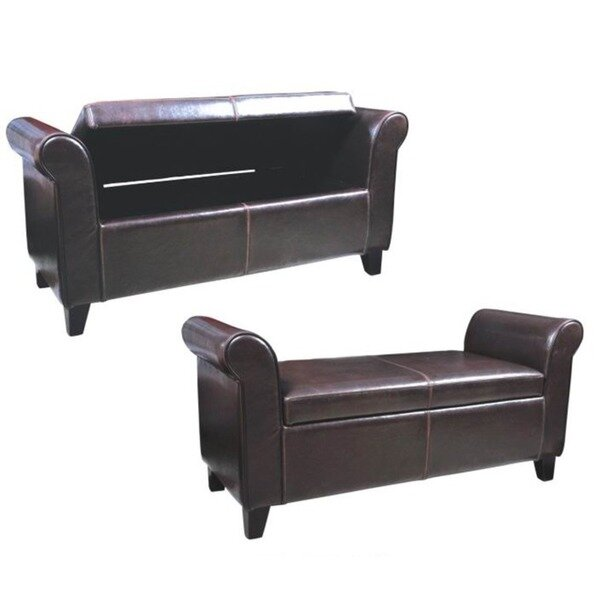 Upholstered Storage Bench by George Oliver