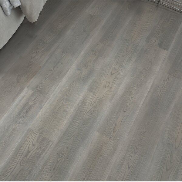 7.5 x 47.25 x 0.3mm Oak Laminate Flooring in Soft Graphite by Mohawk Flooring