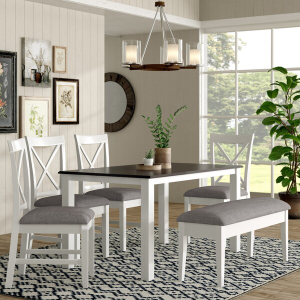#1 Amaury 6 Piece Dining Set By Laurel Foundry Modern Farmhouse Spacial Price