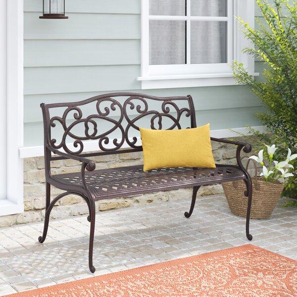 Cesar Cast Aluminum Garden Bench