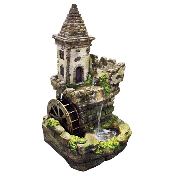 Concrete Castle Fairy Garden Fountain by Benzara