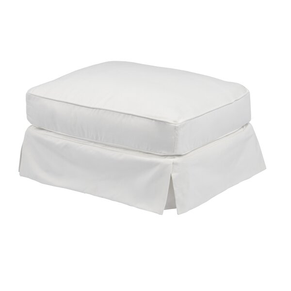 Coral Gables Ottoman Slipcover by Beachcrest Home