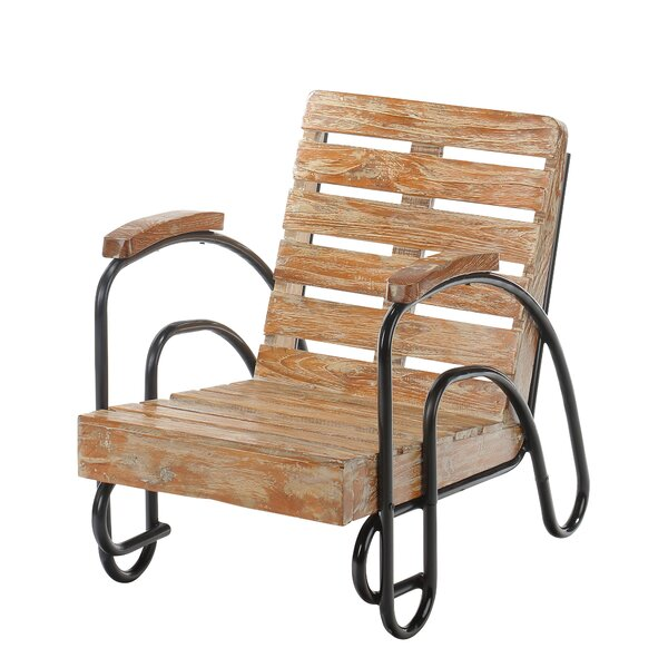 Coeburn Wood Slat Patio Lounge Chair by Harriet Bee