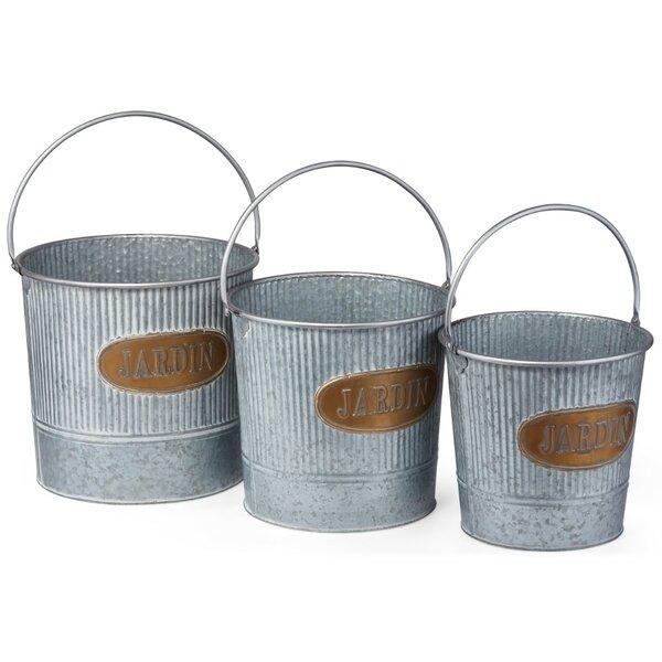 Carmack Vivid Washed 3 Piece Pot Planter Set by Gracie Oaks