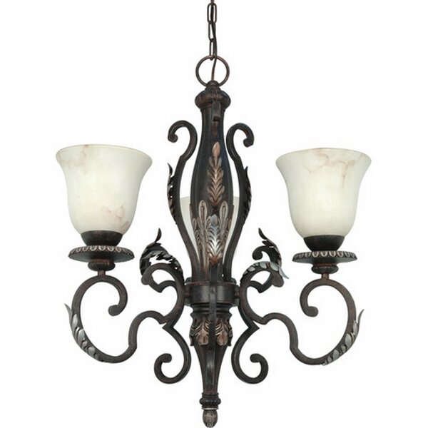 Arbyrd 3-Light Shaded Classic / Traditional Chandelier by Fleur De Lis Living Fleur De Lis Living
